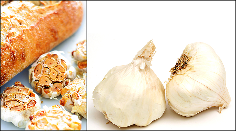 roasted head of garlic