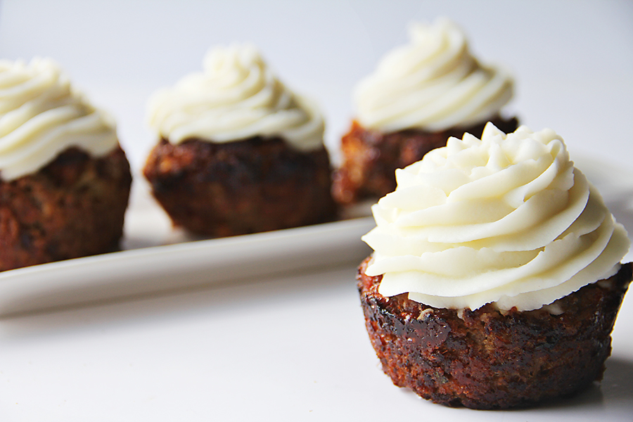 BBQ Meatloaf Cupcakes with Mashed Potato Frosting