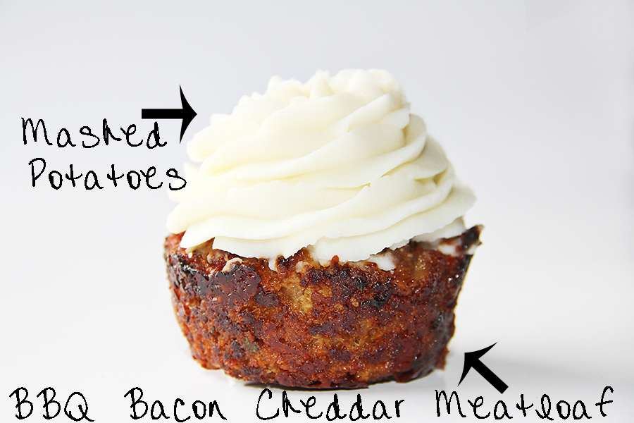 BBQ cupcake isolated text