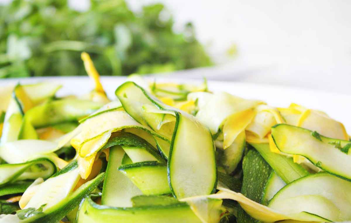 Summer Squash Salad - 2 cups Boston lettuce - zucchini - summer squash ...