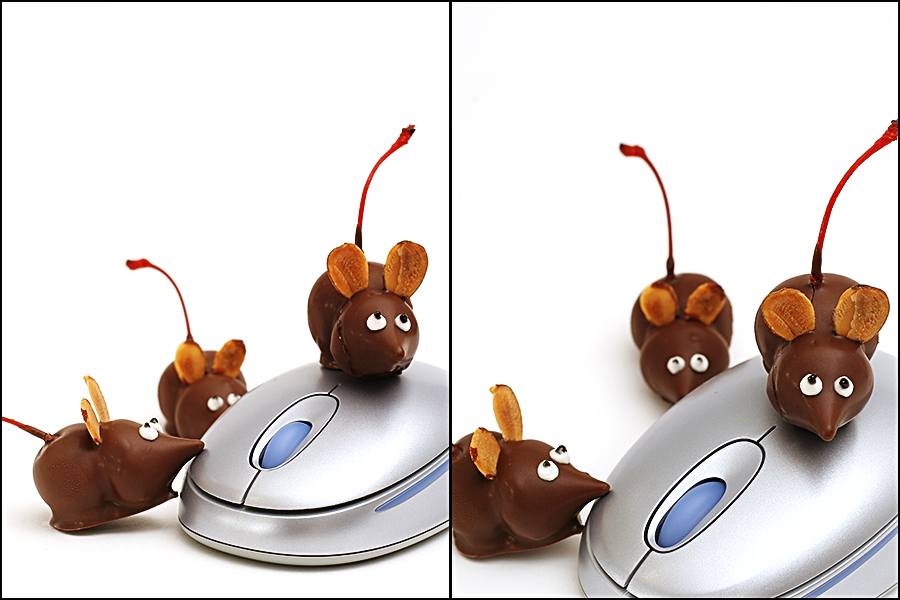 chocolate cherry mice candy
