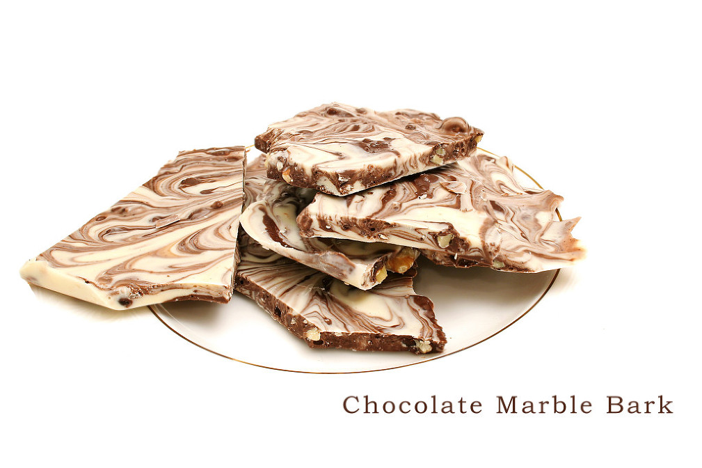 chocolate bark on top