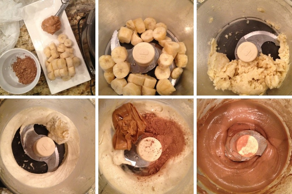 step by step banana ice cream