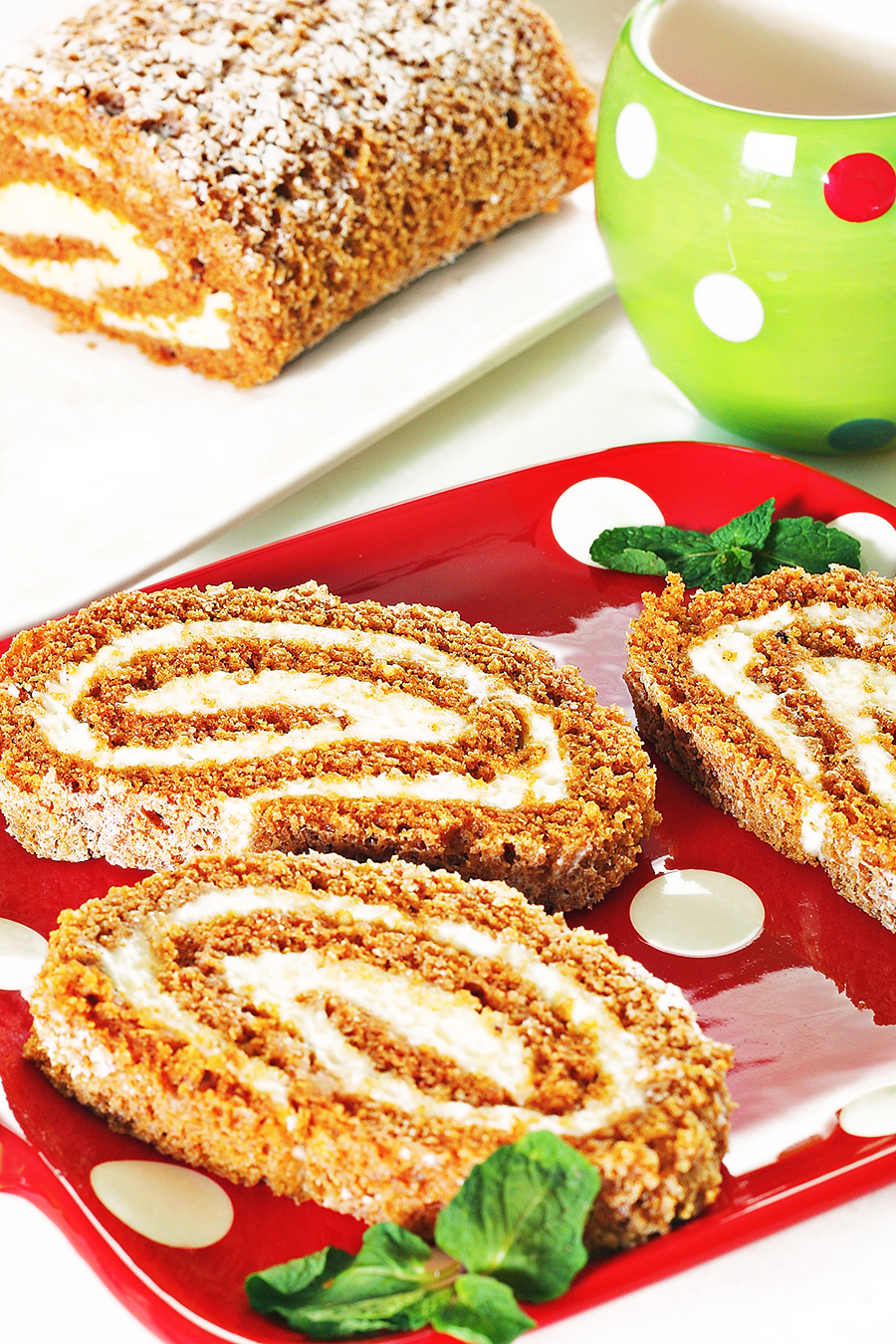 holiday pumpkin roll vertical