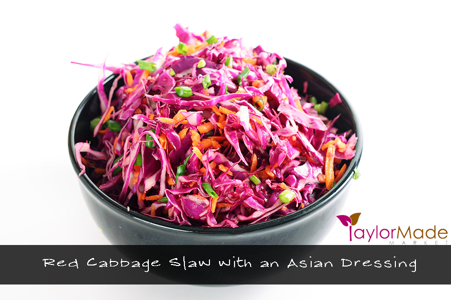 shot of red cabbage salad