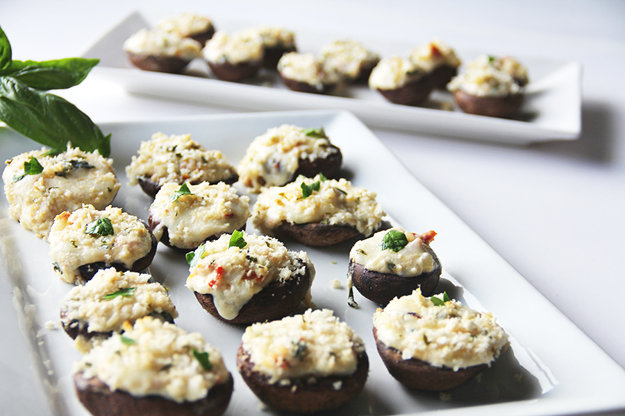 Stuffed Mushrooms Caprese