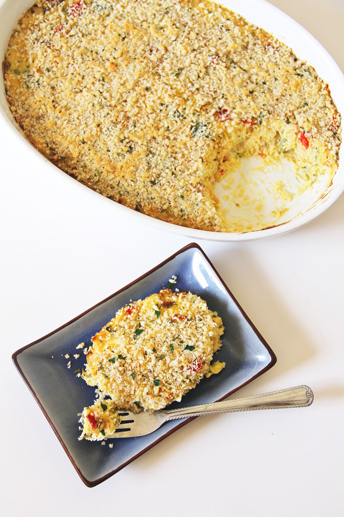 Baked Spaghetti Squash with Goat Cheese & Roasted Vegetables | BlogHer