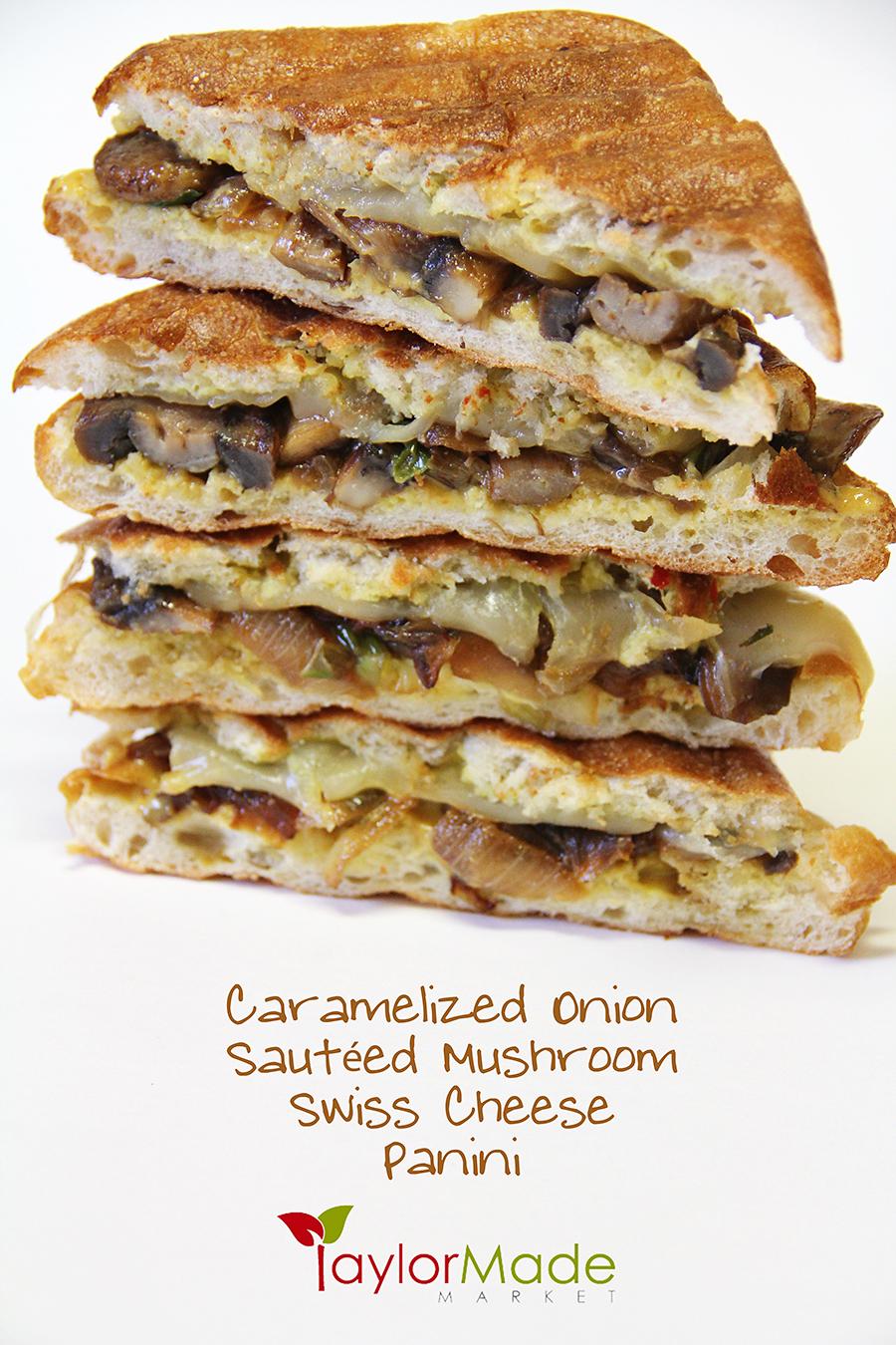 mushroom onion swiss panini vertical
