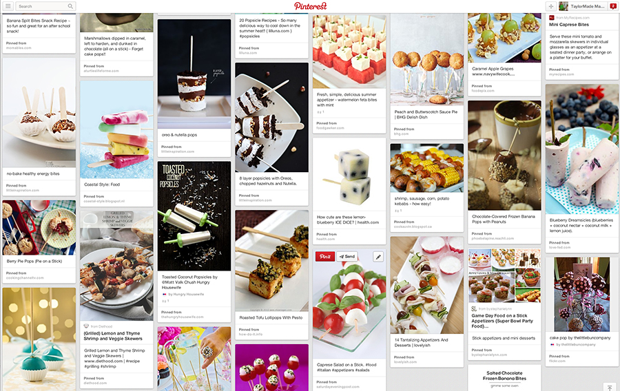 food on a stick pinterest