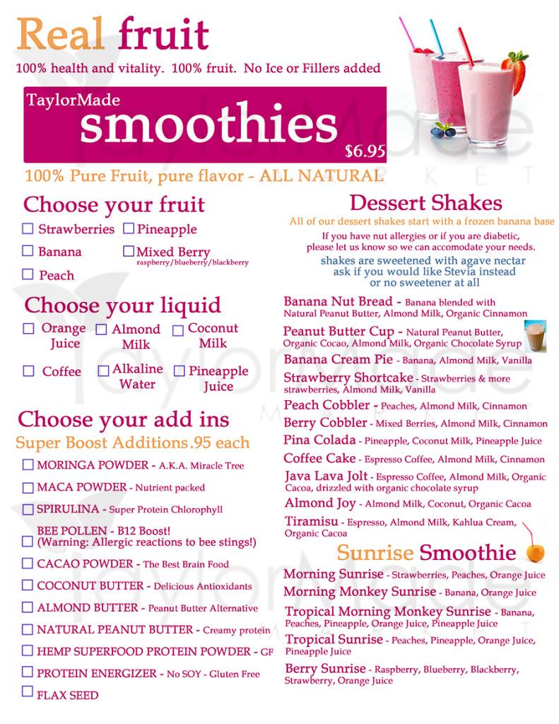 smoothie menuTM