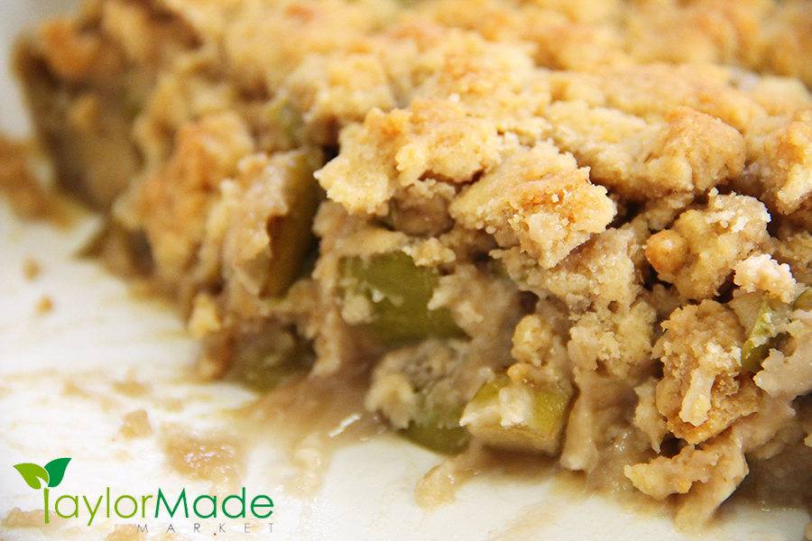 Apple Cobbler Crisp upclose