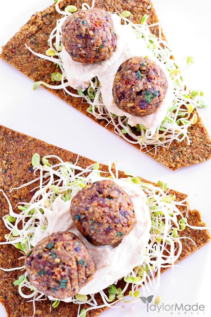 Falafel Appetizer Vertical upclose