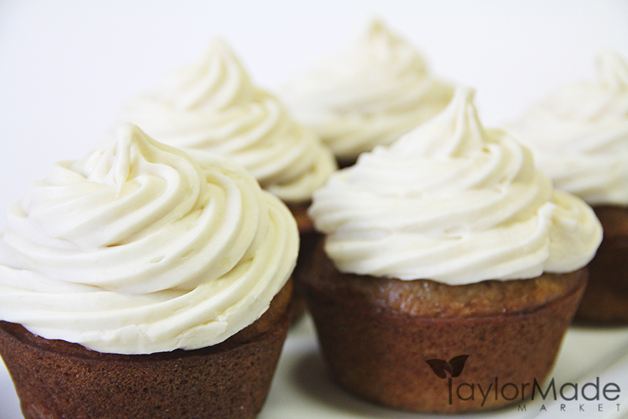 cupcakes with frosting upclose