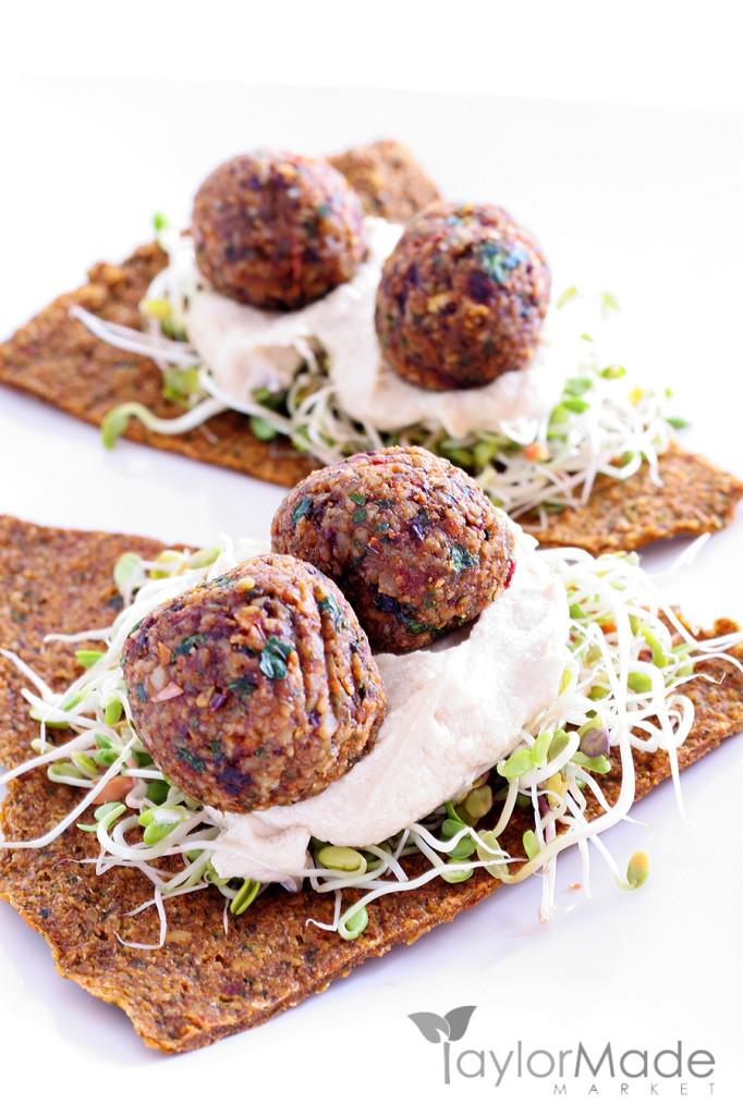 Falafel Appetizer Vertical