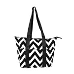 Lunch bag chevron black lg