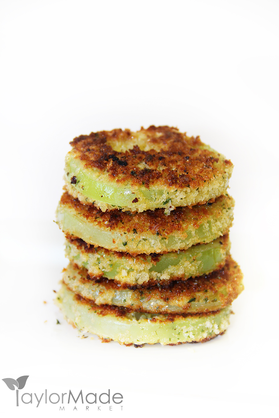 stack of fried green tomatoes