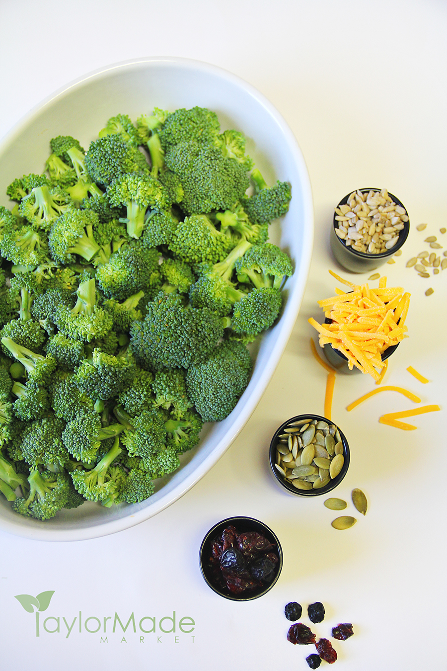 broccoli salad ingredients vertical