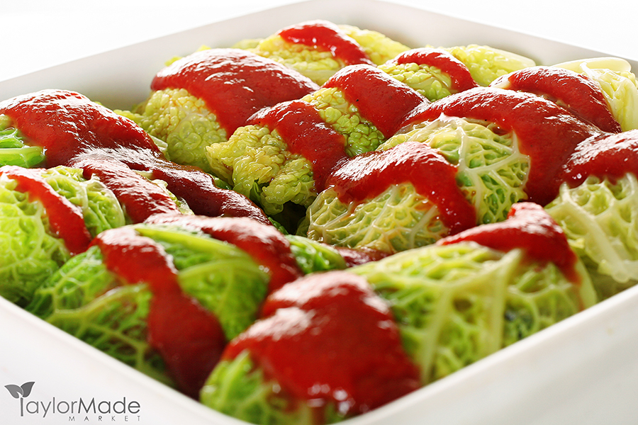 shot of cabbage rolls closeup