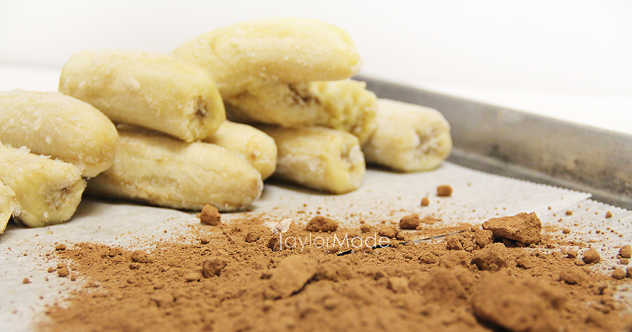 bananas cocoa powder