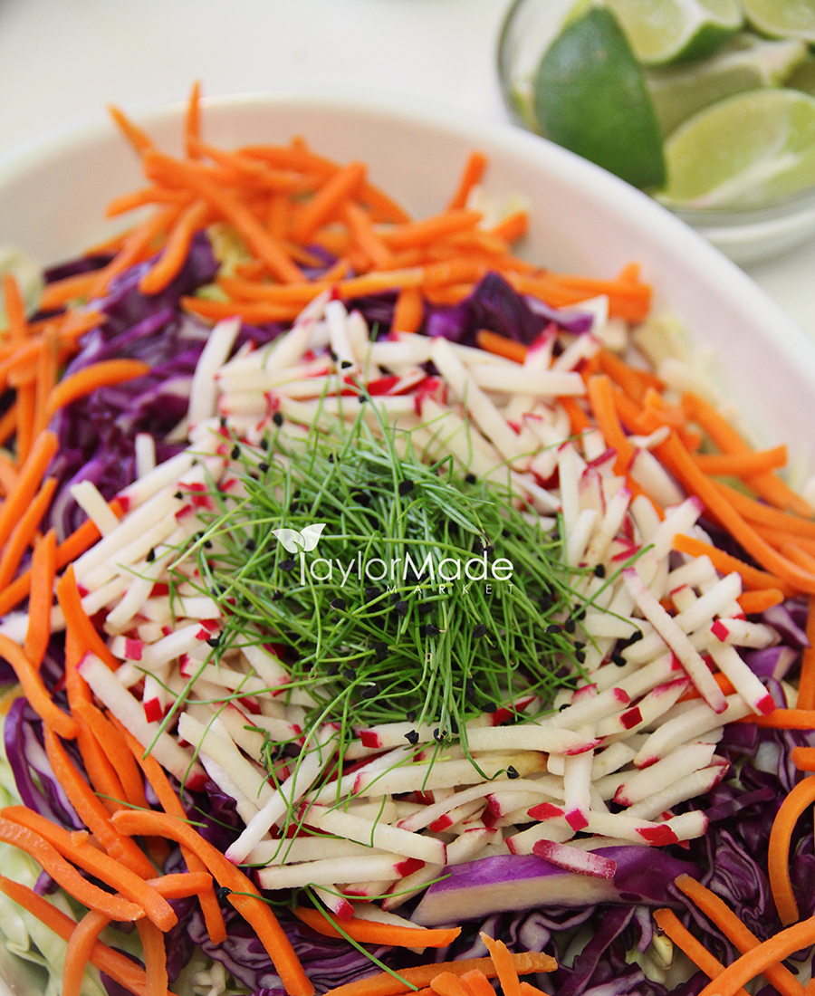 microgreen onion slaw