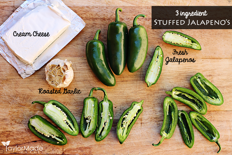 jalapeno popper ingredients cutting board