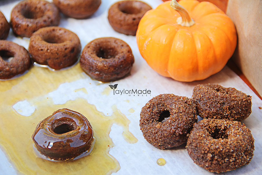pumpkin mini donuts baked TaylorMade Market