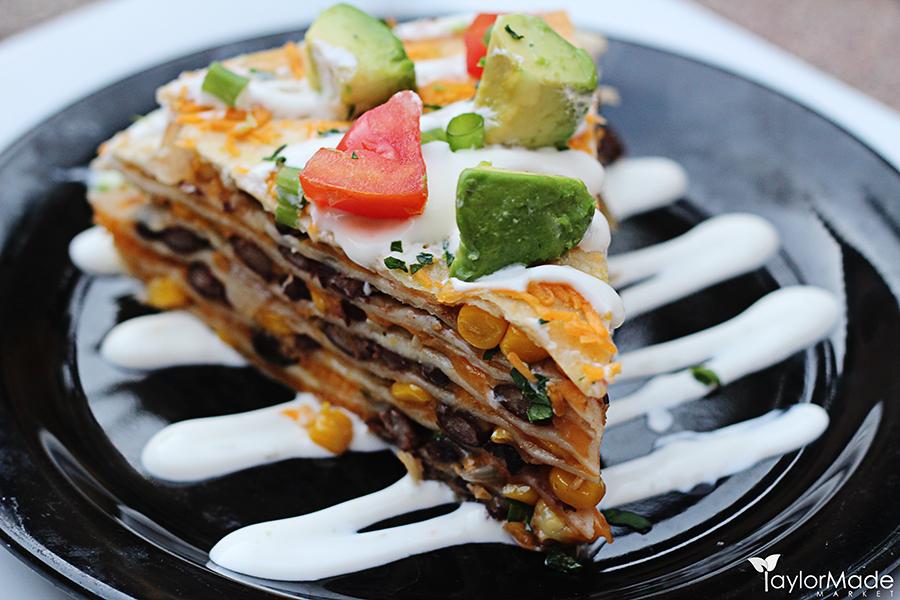 santa fe tortilla stack slice