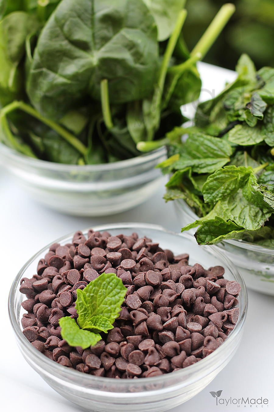chocolate chips and mint spinach vertical