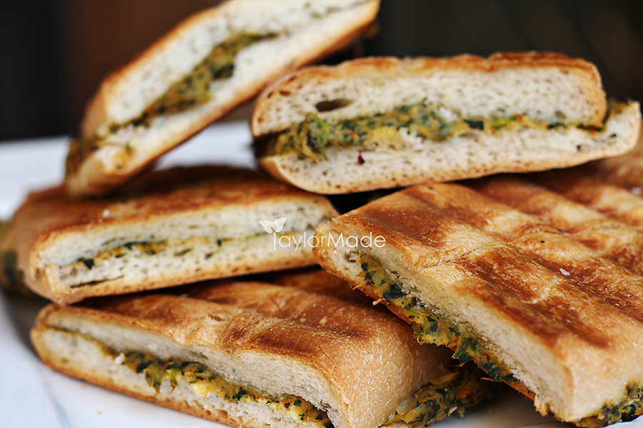 roasted artichoke & spinach vegan panini