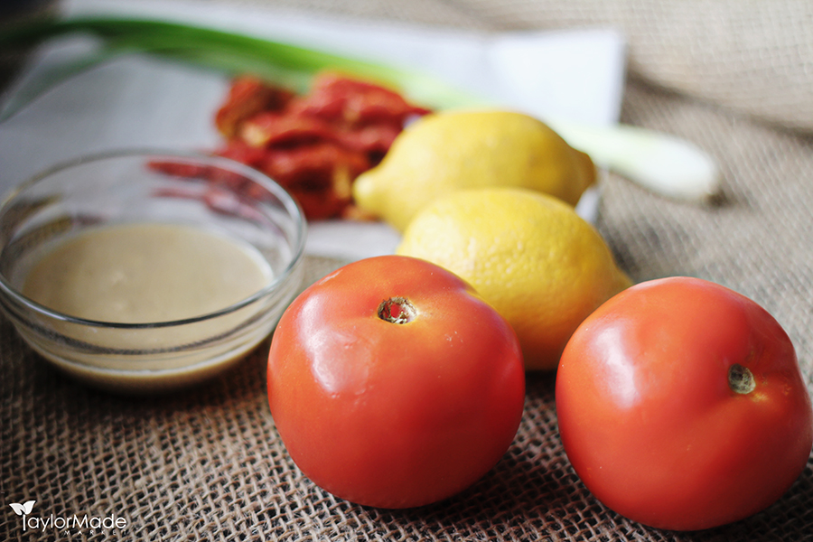Tomato Tahini Ingredients